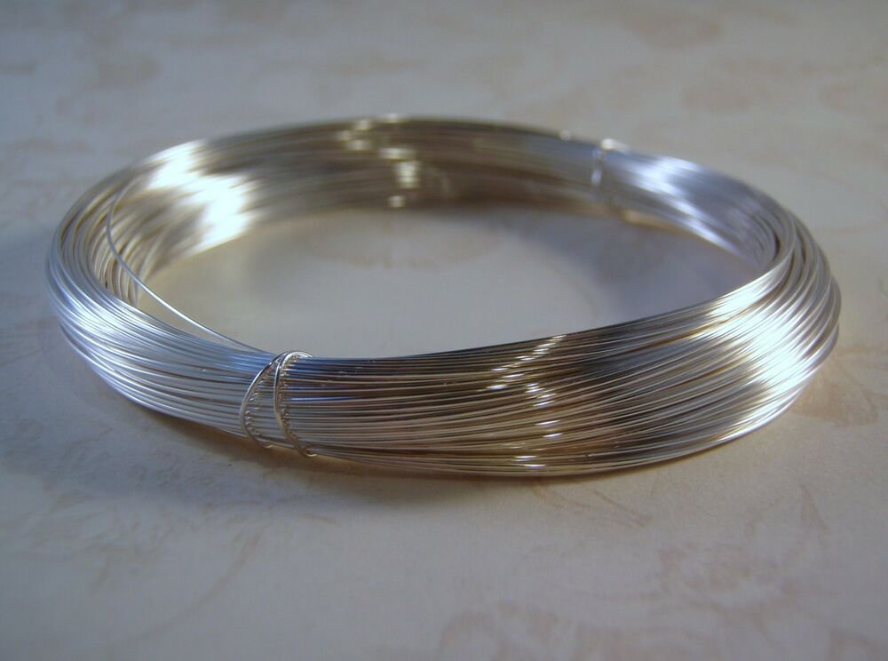 Sterling Silver Filled Wire Round Brass Core 925 1 10