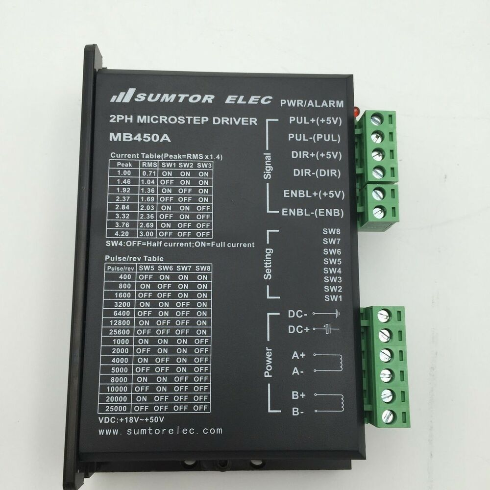 128 Microstep Stepper Driver 2ph Dc24 50v 4 2a For Nema17