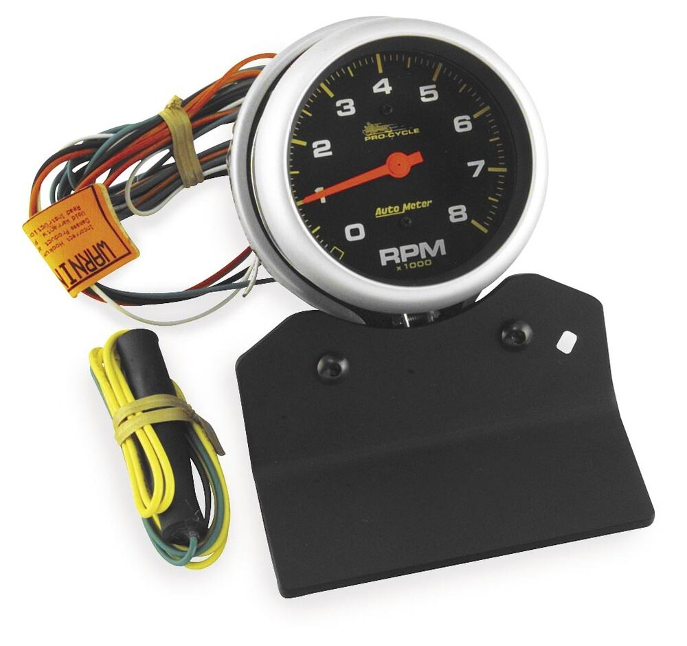 Auto Meter Motorcycle Tach Pro Wiring Diagrams Sunpro With Shift Light Cycle High Rpm Tachometers 3 8in 2 Autogage
