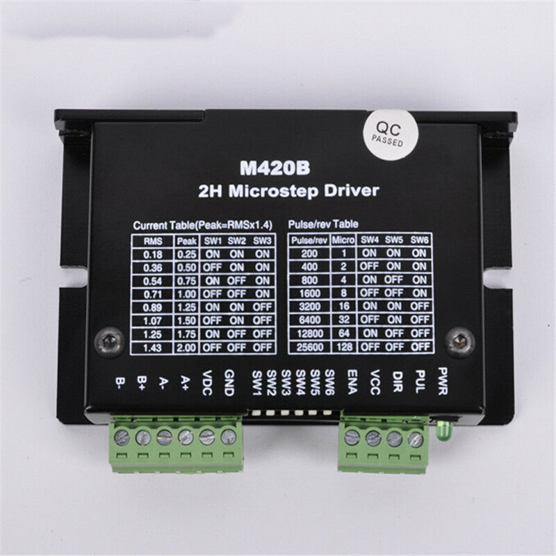 Cnc microstep 2ph driver adapter controller dc40v for for Stepper motor controller software freeware