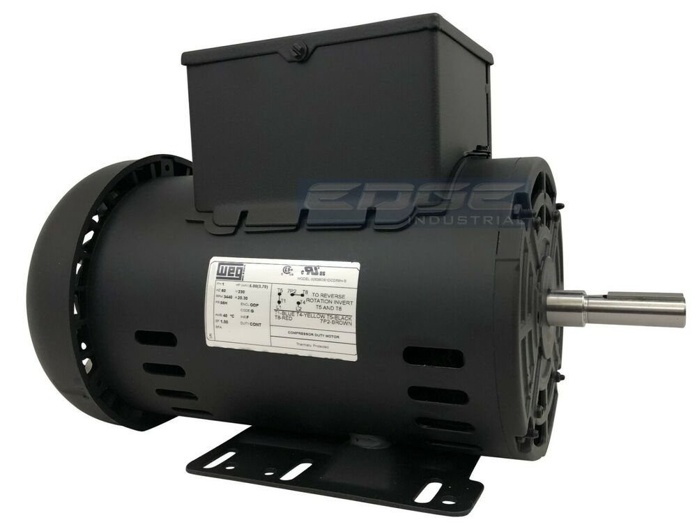 New 5 Hp Electric Motor Compressor 56 Frame 5 8 Shaft