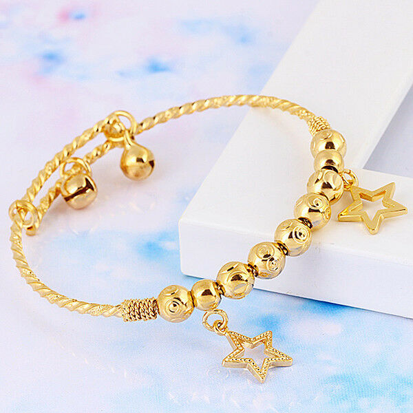 baby children 39 s jewellery 18k yellow gold filled gf charm. Black Bedroom Furniture Sets. Home Design Ideas