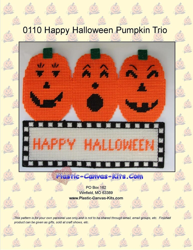 This is a picture of Epic Free Printable Halloween Plastic Canvas Patterns