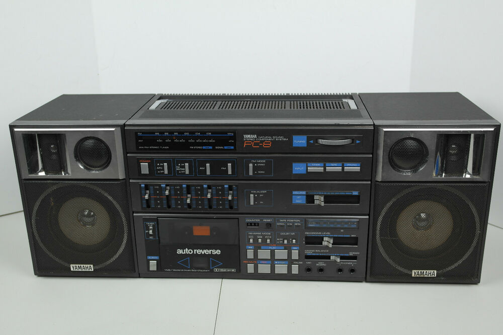 80 39 s yamaha pc 8 natural sound am fm stereo component boombox ghetto blaster ebay. Black Bedroom Furniture Sets. Home Design Ideas