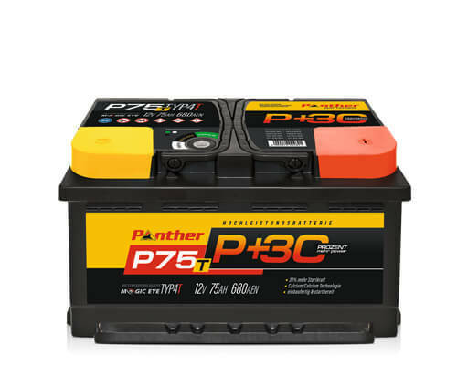 autobatterie starterbatterie panther black edition 30 p75t 12v 75ah 680 ebay. Black Bedroom Furniture Sets. Home Design Ideas