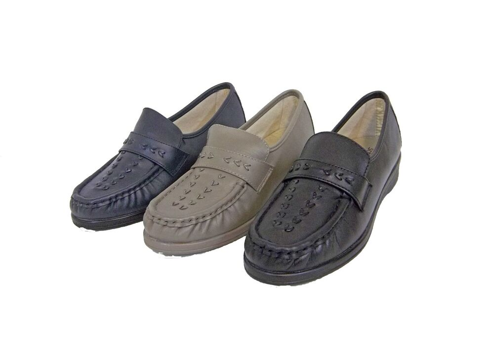 Wide Soft Leather Shoes