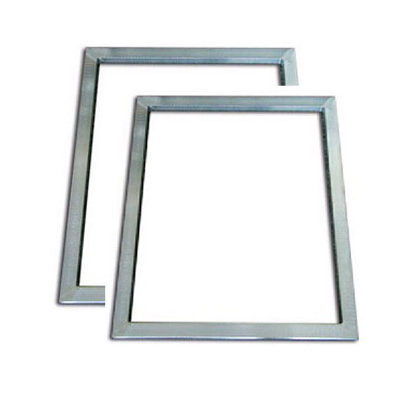 2pcs Silk Screen Printing Aluminum Frame Outside Size