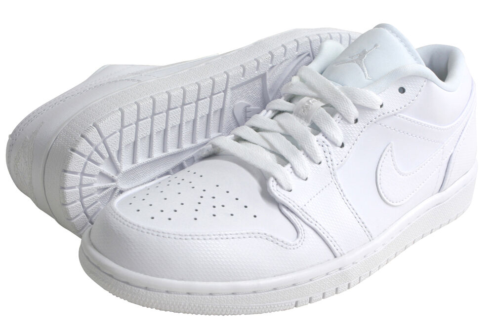 nike air jordans 1 white low tops