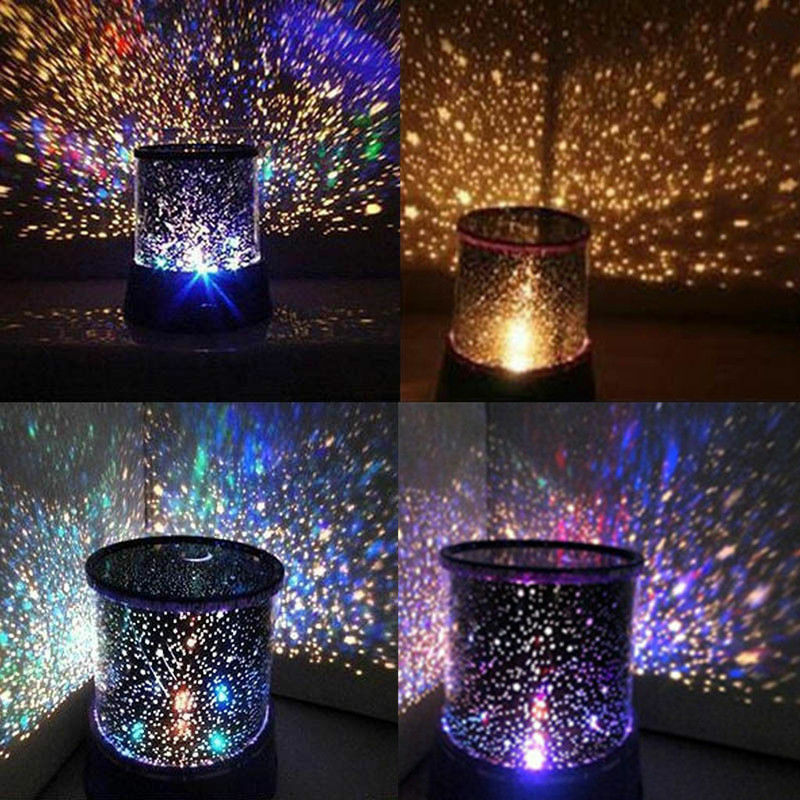 colorful led starry night sky star light projector lamp kids gift cosmos master ebay. Black Bedroom Furniture Sets. Home Design Ideas