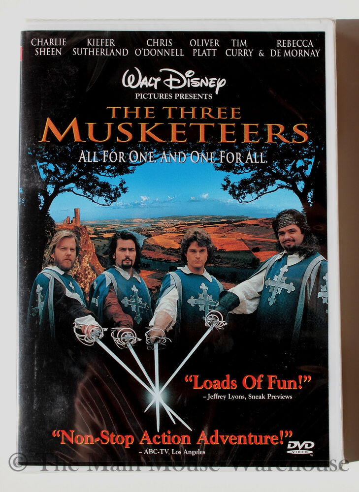disney the three musketeers live action movie dvd english french sheen kiefer 717951003201 ebay. Black Bedroom Furniture Sets. Home Design Ideas