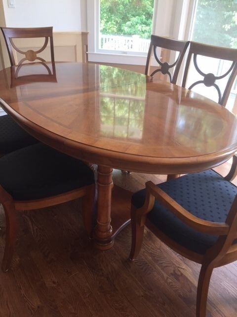 oval dining room set by stanley furniture ebay