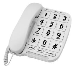 Kyпить Blue Donuts BD-014WHT-Big Button Phone for wall or desk with Speaker and Memory на еВаy.соm