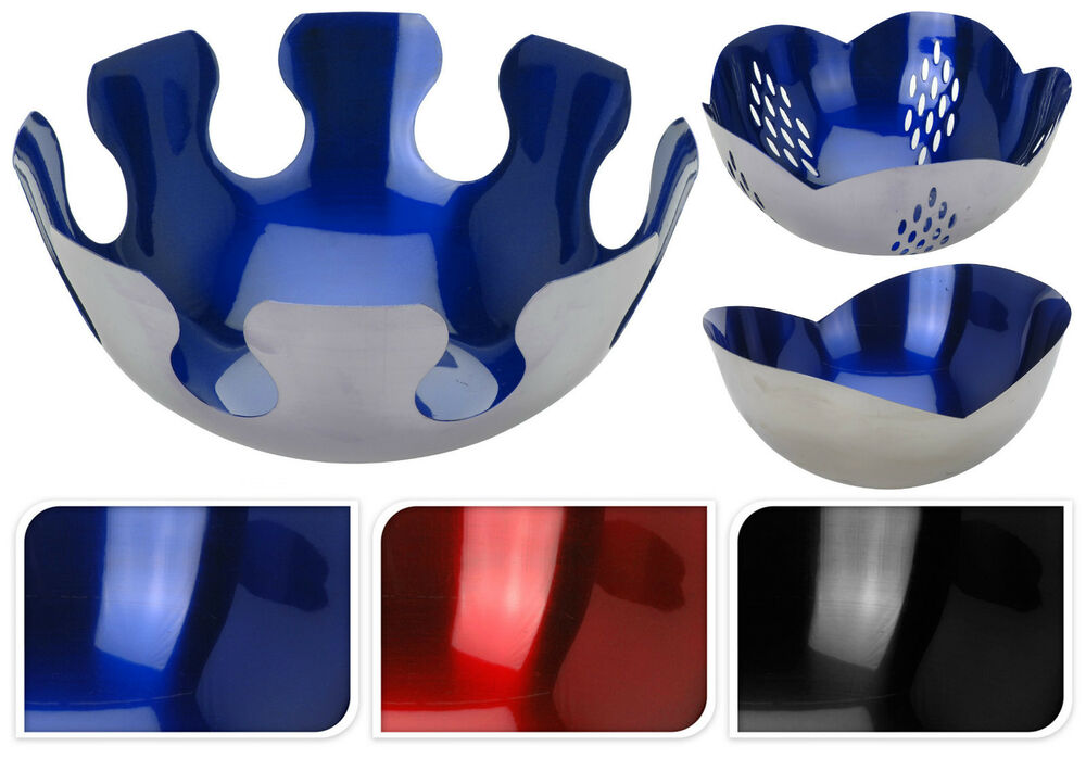 Stunning silver chrome fruit bowls display bowls high for Design couchtisch bowl highgloss