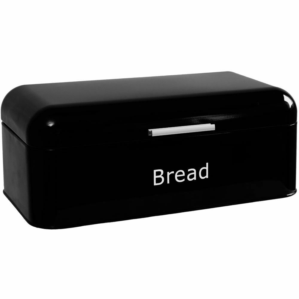 kitchen bread storage curved bread bin black steel kitchen top storage loaf box 2329