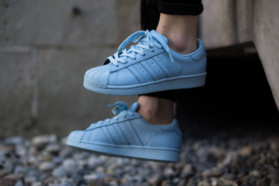adidas superstar sneakers femme blue sky