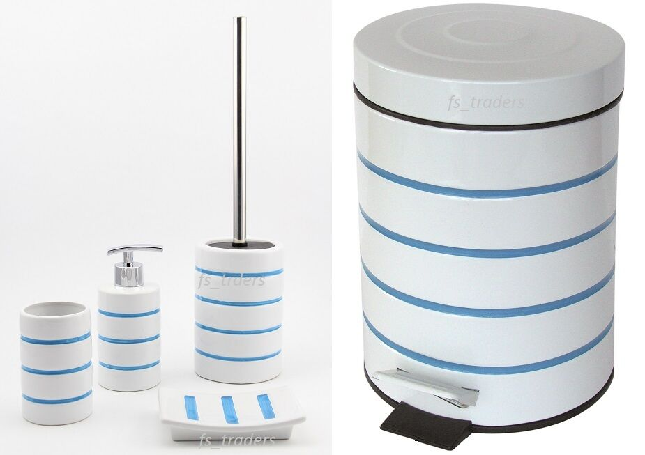Luxury bathroom accessory set bin soap dish dispenser for Turquoise bathroom bin
