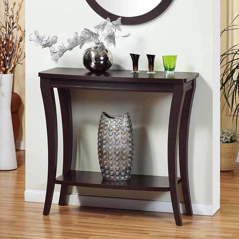 Vintage Entry Table Display ~ Modern accent foyer entryway console sofa side table