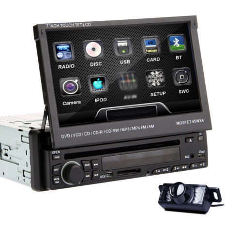 hq cam detachable 7 single din car dvd stereo cd player radio bluetooth ipod ebay. Black Bedroom Furniture Sets. Home Design Ideas