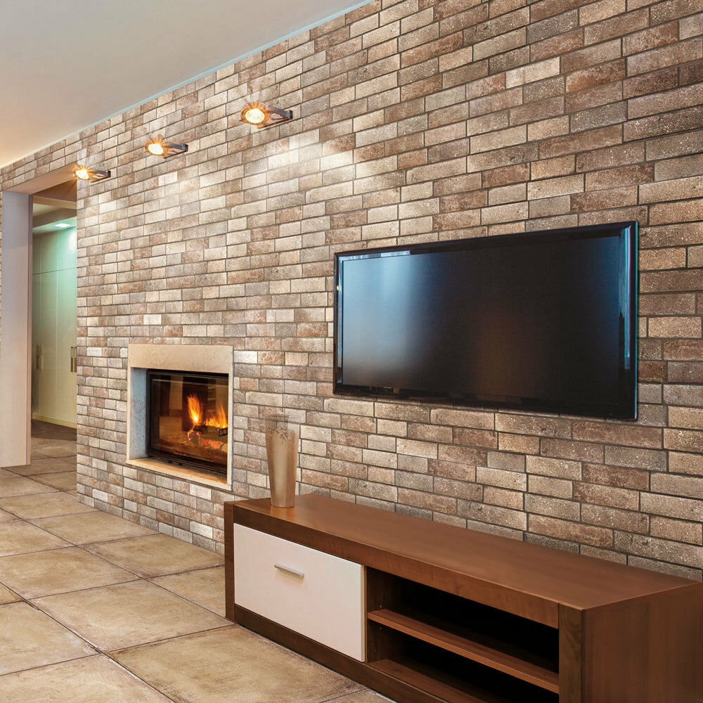 1000 Ideas About Stone Wall Tiles On Pinterest: OL Trullo Dark Natural Brick Effect Porcelain Wall Tiles