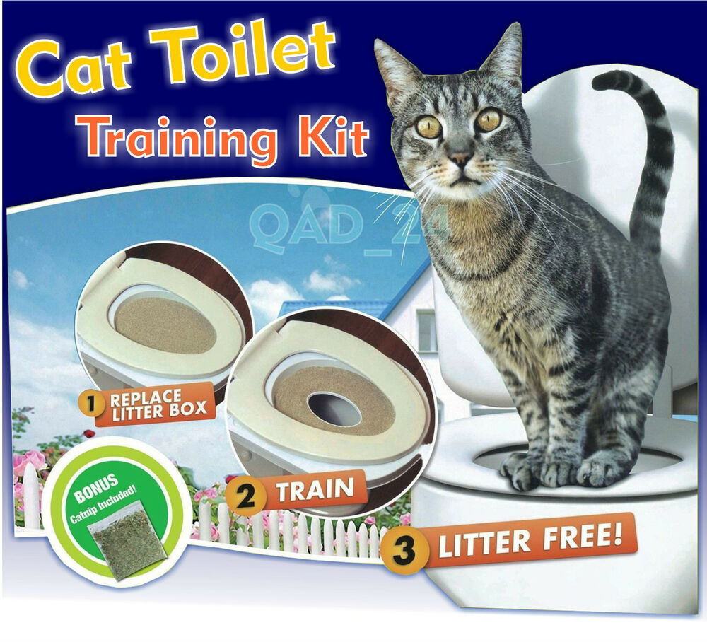 Cat Toilet Training Seat Litter Tray Kit Potty Train