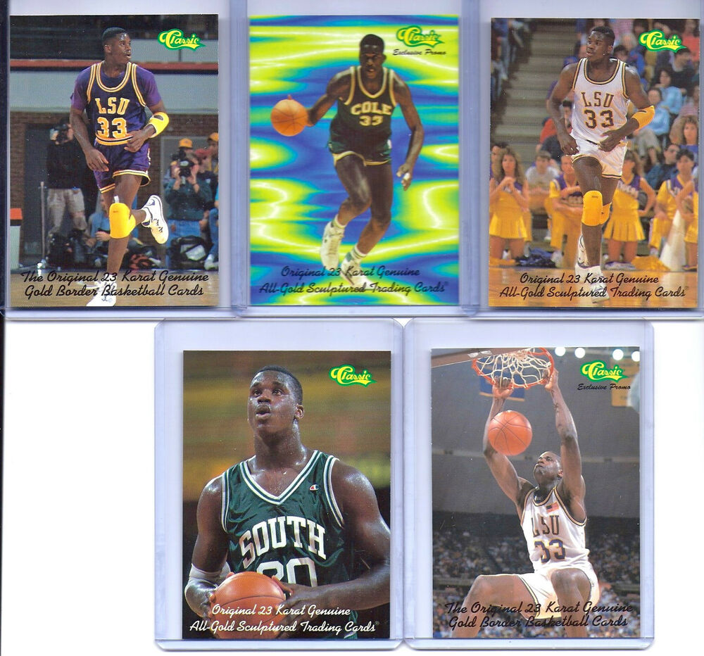 Rookies Coupons: SHAQUILLE O'NEAL CLASSIC COLLEGE/COLE HIGH SCHOOL 5 CARD