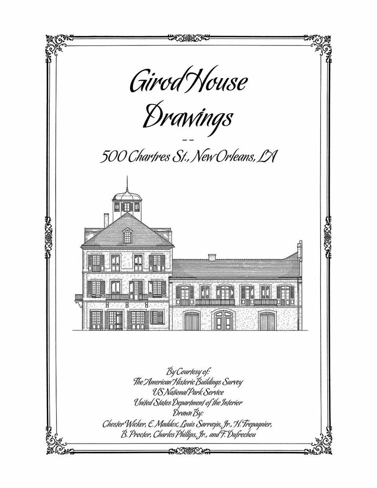 Girod house drawings new orleans architectural house plans for New orleans home floor plans