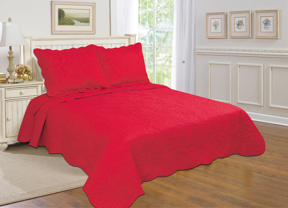 7 All For You 3 Pc Reversible Quilt Set Bedspread