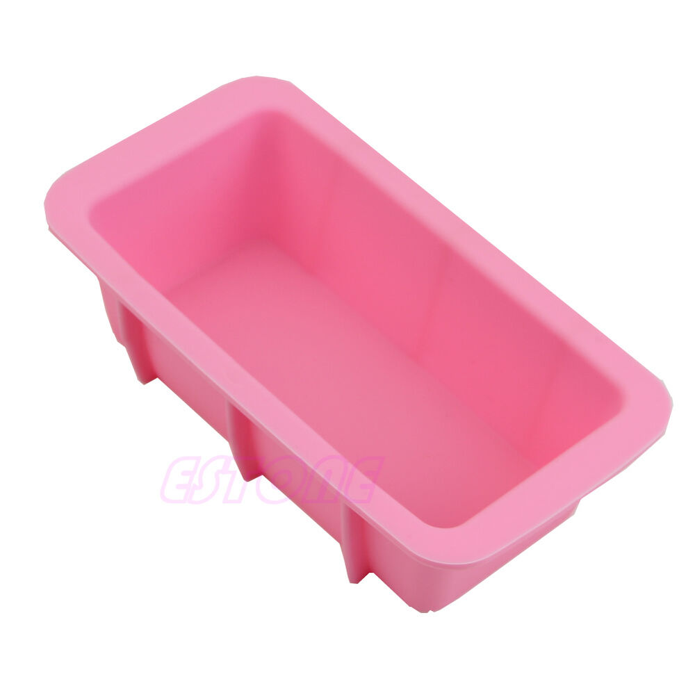 Silicone Rectangle Mould Ice Cube Tray Cake Muffin Soap