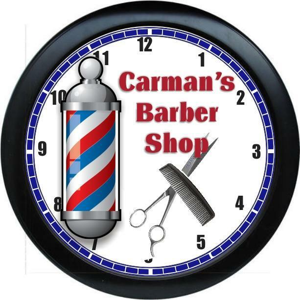 personalized barber shop salon wall clock ebay. Black Bedroom Furniture Sets. Home Design Ideas