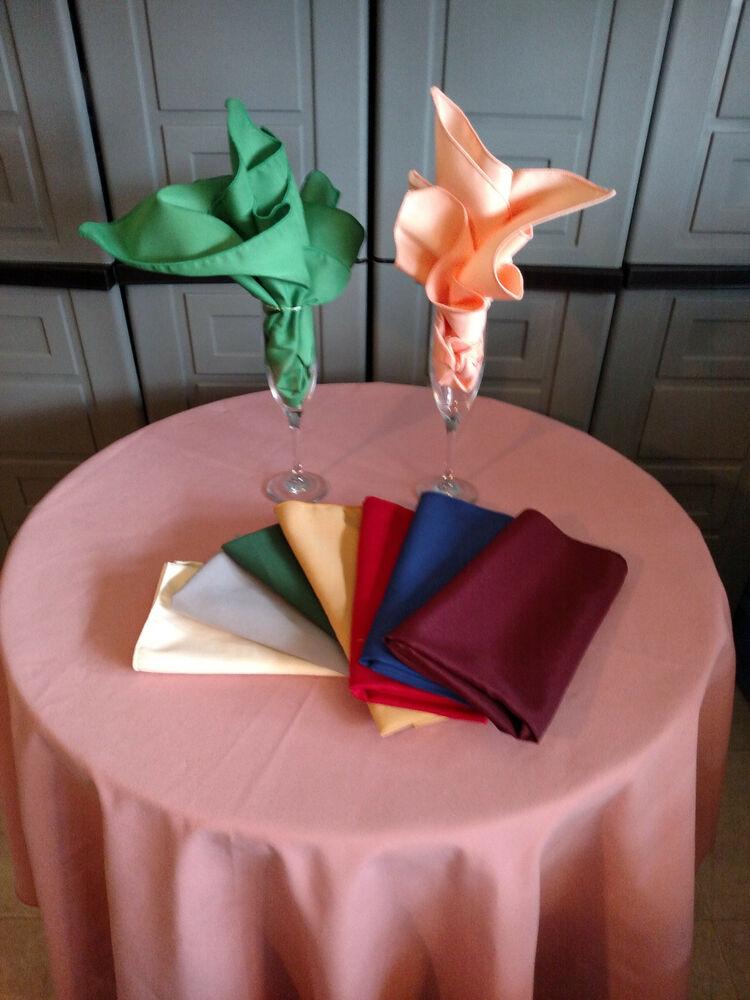 60 inch round polyester tablecloth 74 color choice made in ...