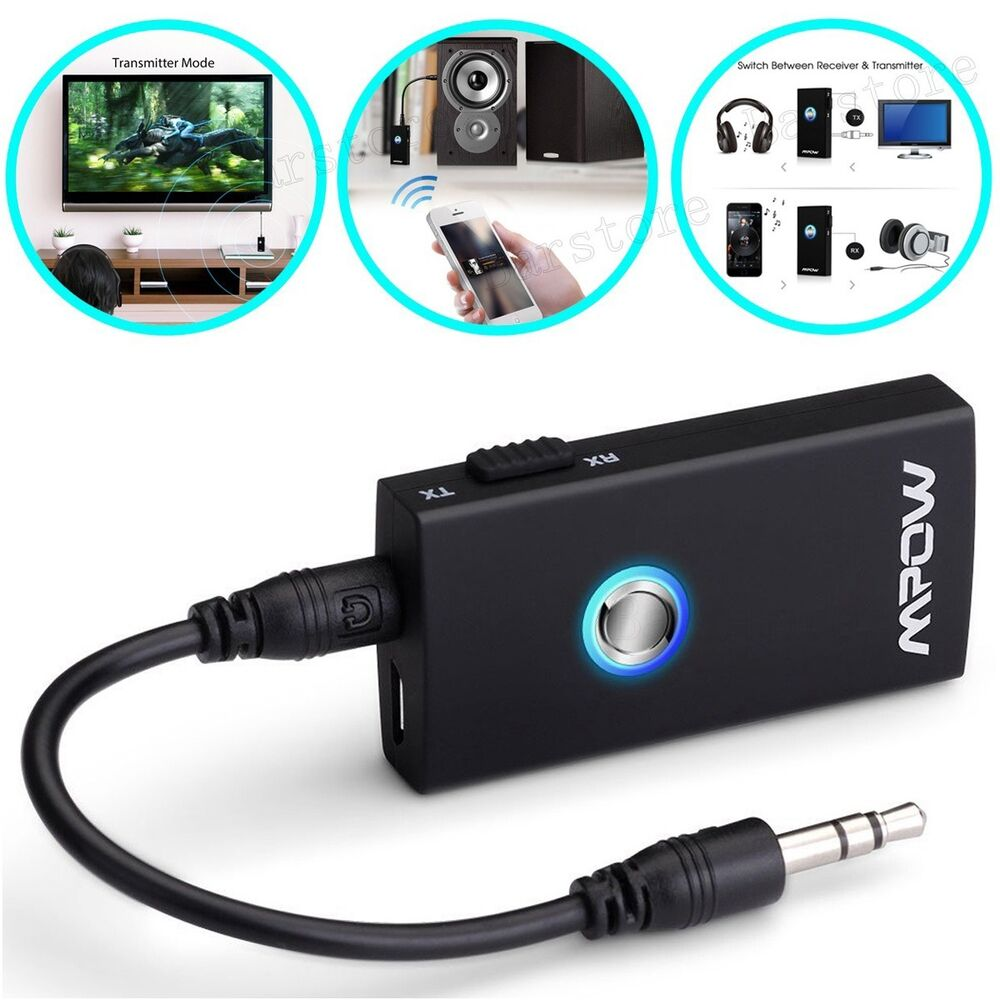 Mpow Wireless Bluetooth Audio Transmitter Receiver 2 In 1 Audio Music Adapter