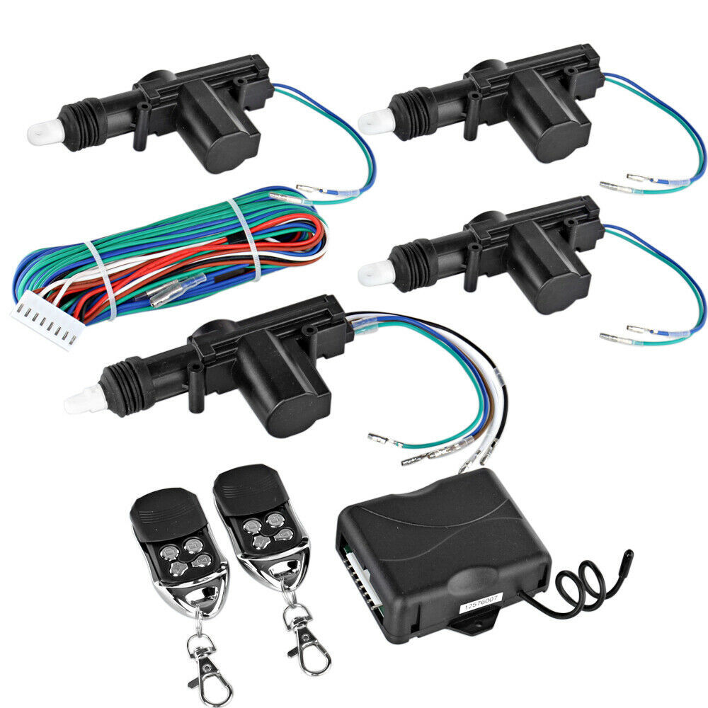 4 Door Power Central Lock Kit w/ 2 Keyless Entry Car ...