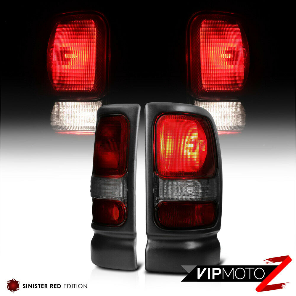 1994 2001 dodge ram 1500 smoke dark red brake tail lights 94 02 r. Black Bedroom Furniture Sets. Home Design Ideas