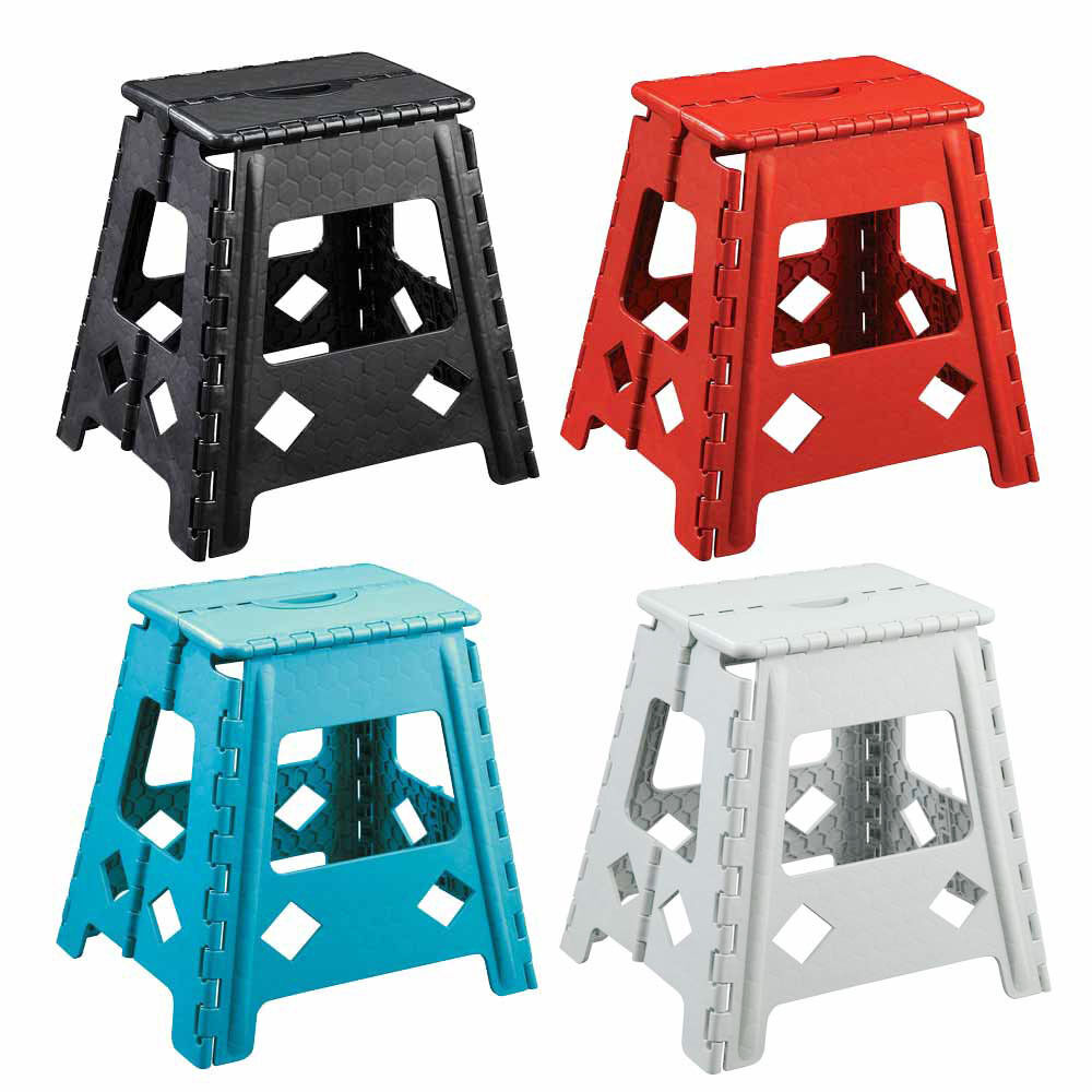16 Quot H Plastic Foldable Folding Fold Step Stool Chair Carry