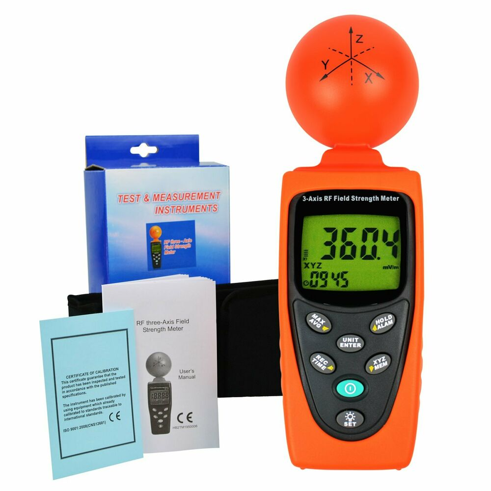 Field Strength Meter Kit : Axis emf rf radiation electrosmog power digital field