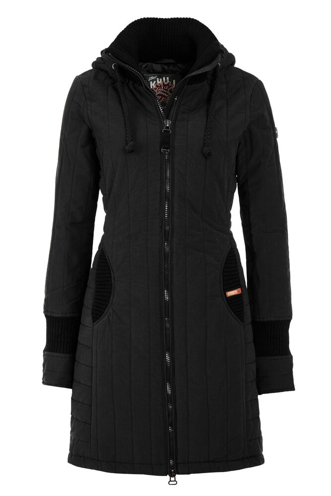 khujo damen wintermantel winterparka winterjacke. Black Bedroom Furniture Sets. Home Design Ideas