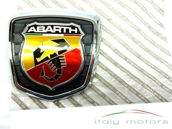 fiat 500 abarth orig emblem heckemblem firmenzeichen logo hinten neu 735496473 ebay. Black Bedroom Furniture Sets. Home Design Ideas