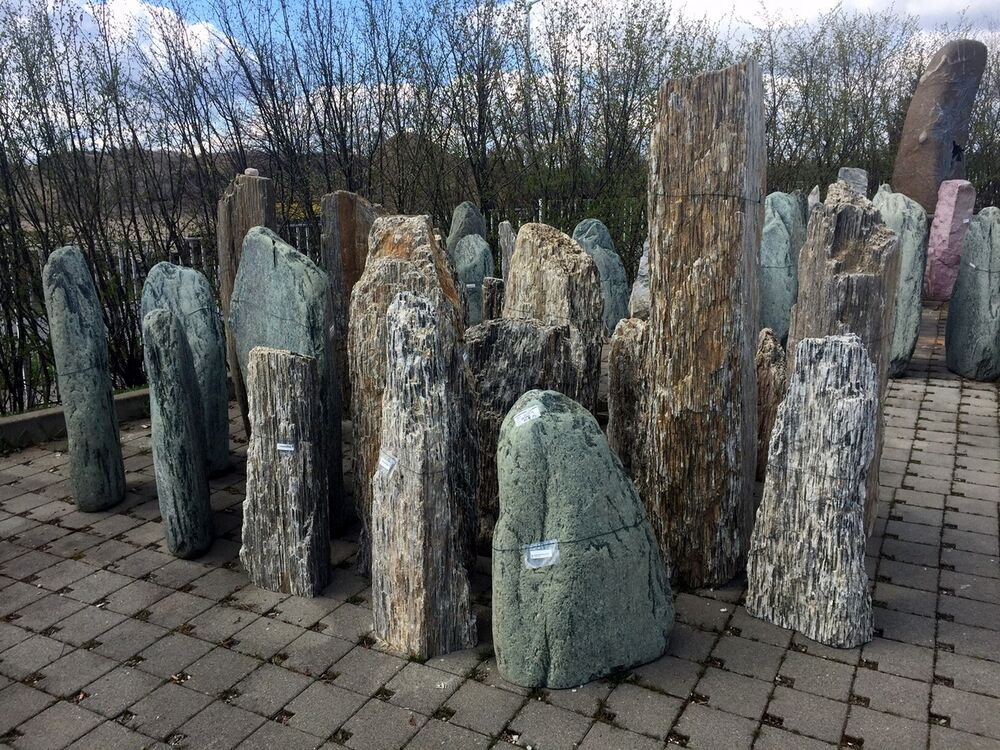 felsen schieferblock naturstein monolith stele garten terrasse solit r stein neu ebay. Black Bedroom Furniture Sets. Home Design Ideas