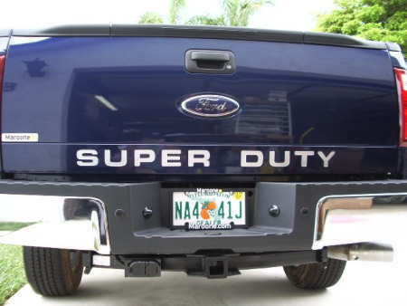 Super Duty Tailgate Insert Decal F F F - F250 decals