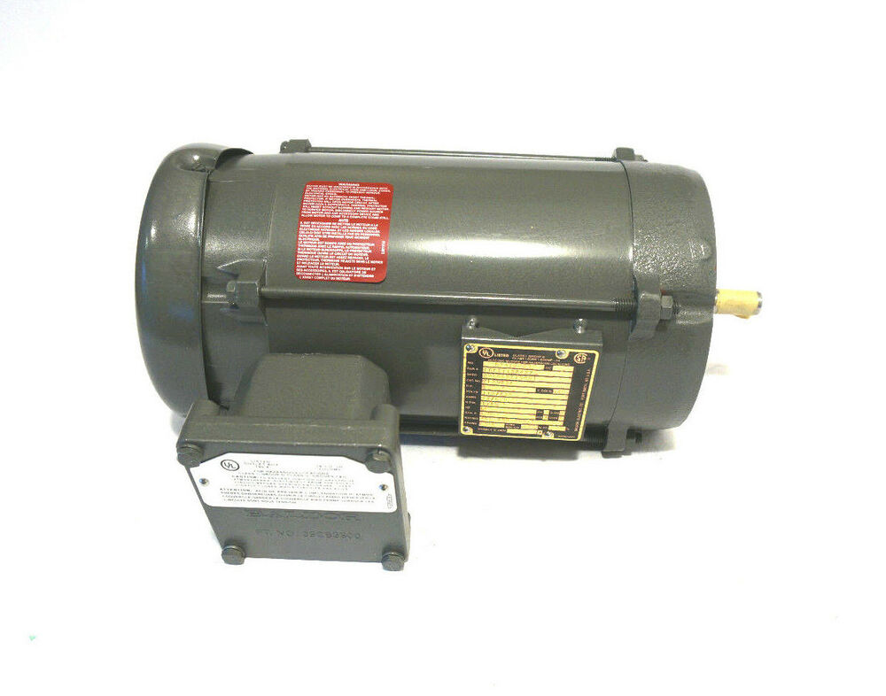 New baldor vl5023a motor 1hp 115 230v 1725 rpm ebay for Baldor industrial motor parts