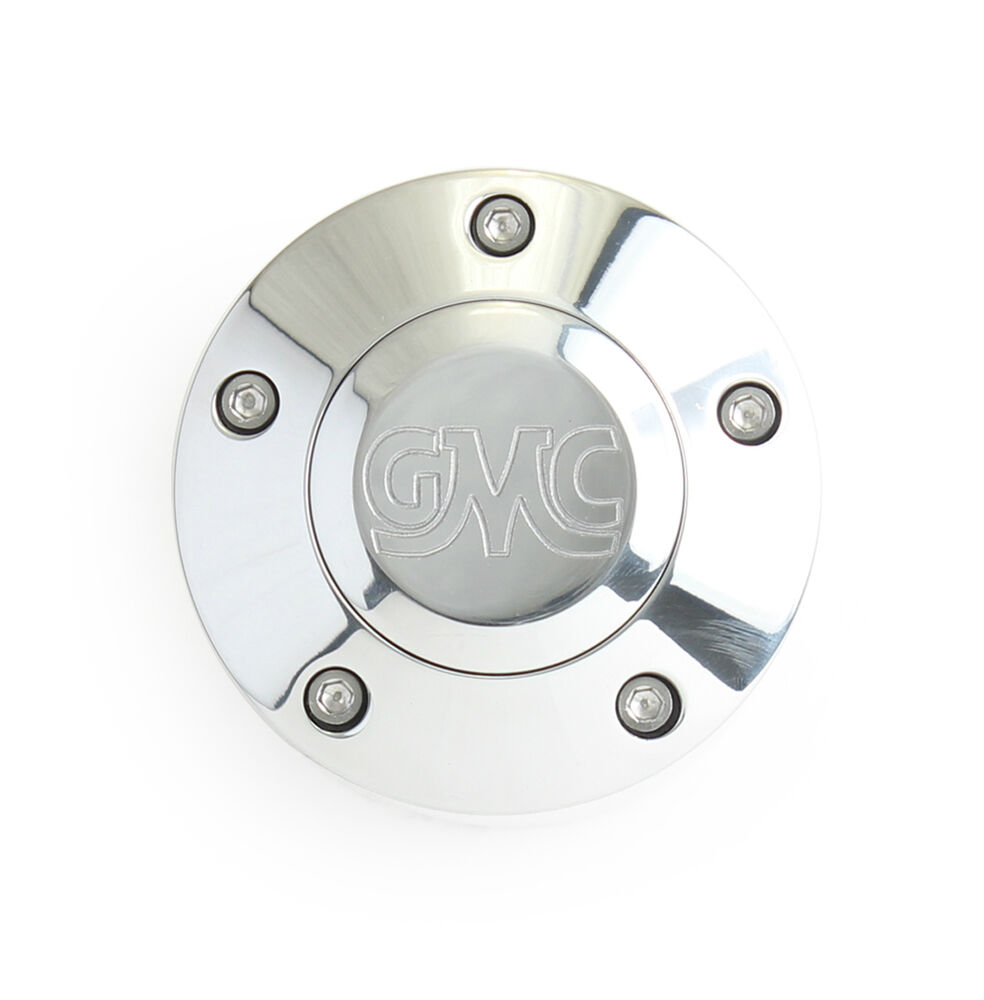 laser engraved polished billet horn button with classic