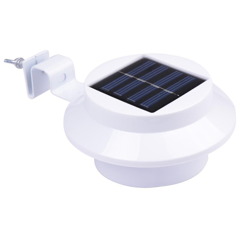 3LED Outdoor Solar Powered Wall Path Light Landscape Mount