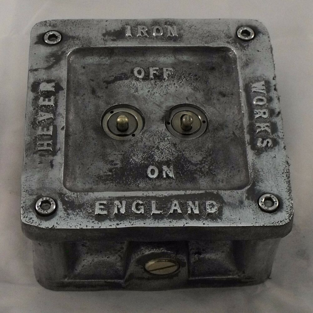 Vintage Industrial Light Switch: NEW Vintage Toggle Cast Metal Light Switch.1 Or 2 Gang