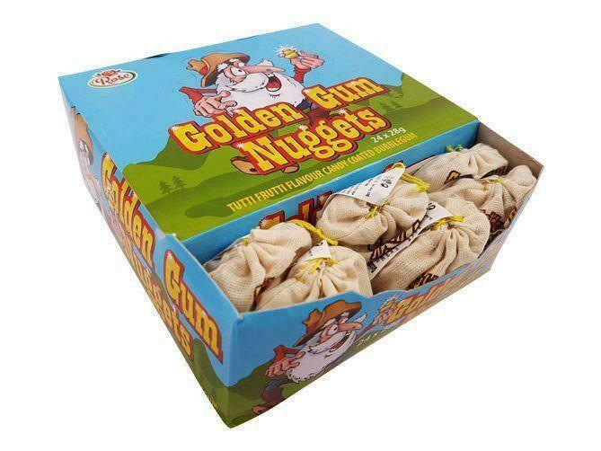 Golden Gum Nuggets Bubble Chewing Gum Retro Sweets Party