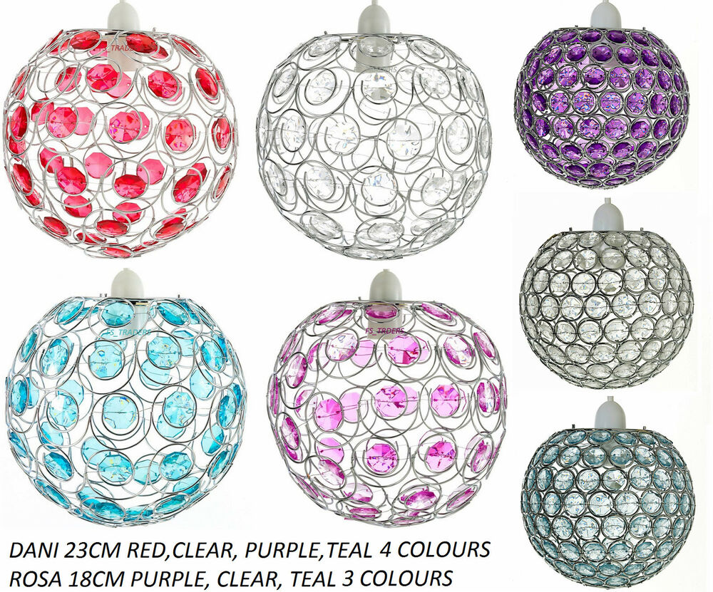 Effect crystal ceiling pendant light shade globe lampshade ebay - Modern Chrome Ceiling Light Shade With Acrylic Crystal