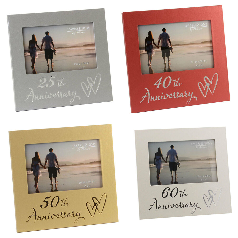 New Luxury Wedding Anniversary Photo Frame Gift 25th 40th