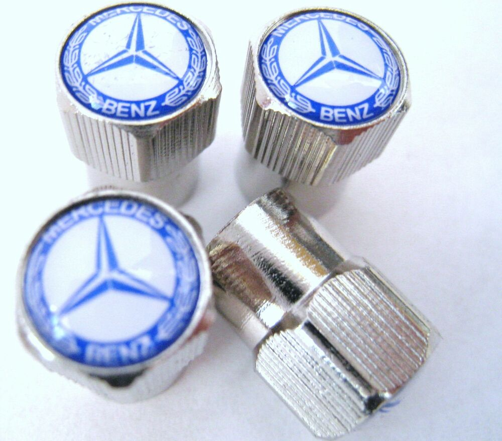 Mercedes Benz Valve caps C350 C250 C300 E ML CLA GLA TIRES WHEELS 2014 ...