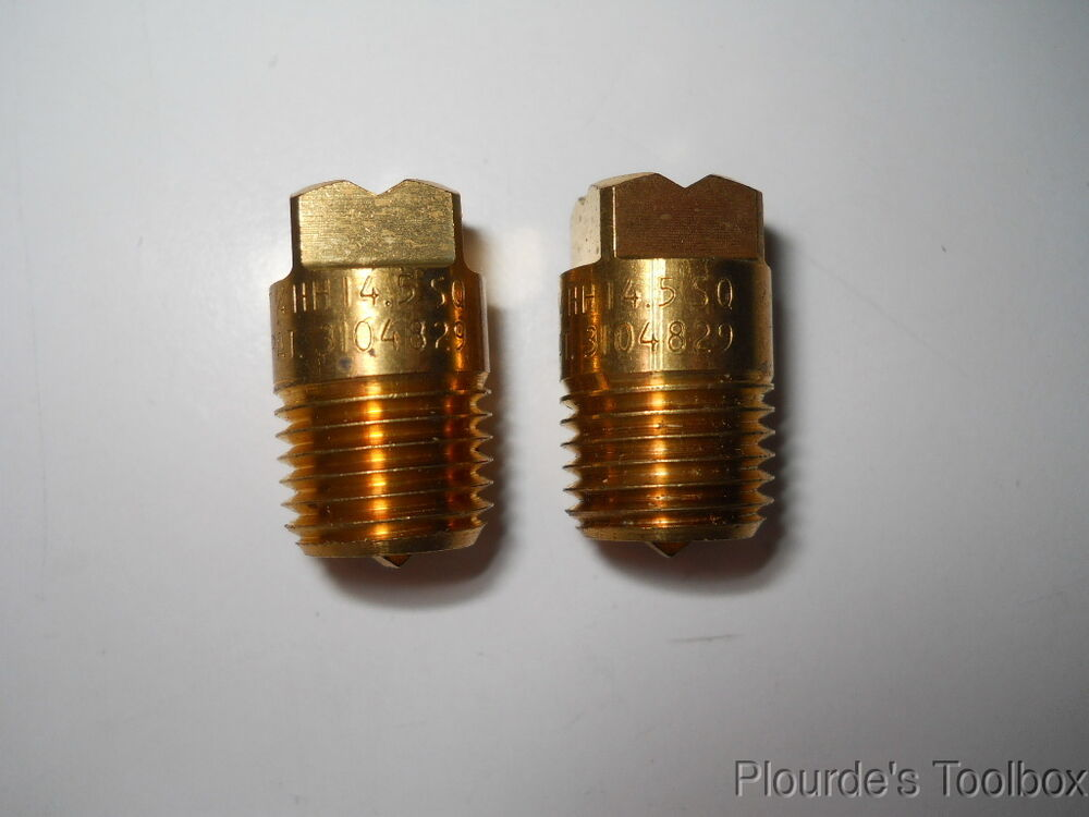 Lot of new fulljet brass quot male square spray nozzle