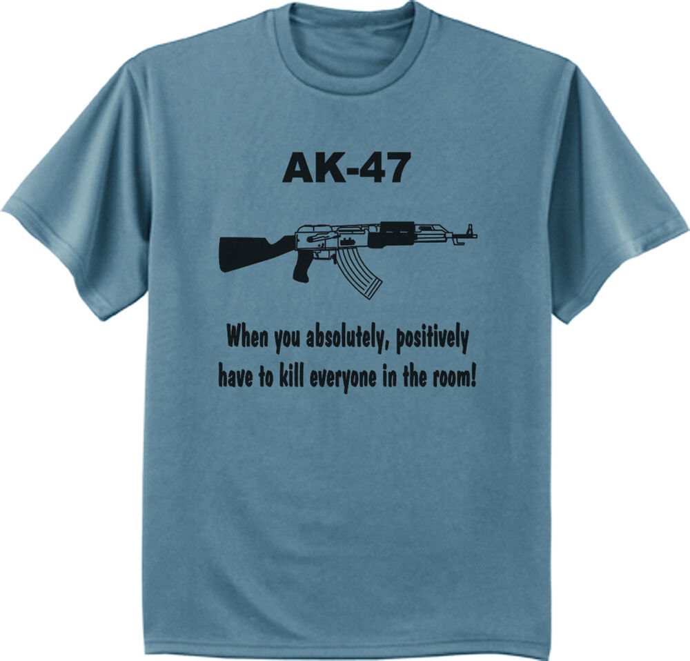 Ak 47 funny t shirt army navy design 2nd amendment rights for Army design shirts online