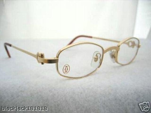 cartier gold octagon eyeglasses glasses authentic new ebay
